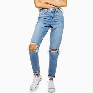 Top shop ripped mom jeans